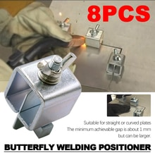 Welding Butterfly Clip Clamps Holder Butt Welding Clamp Welding Positioner Fixture Adjustable for Welding Clamps Tools Set
