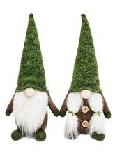 Dessin animé Gnome père noël vert forêt elfe sans visage poupée en peluche jouet créatif enfants fête de noël cadeau de noël