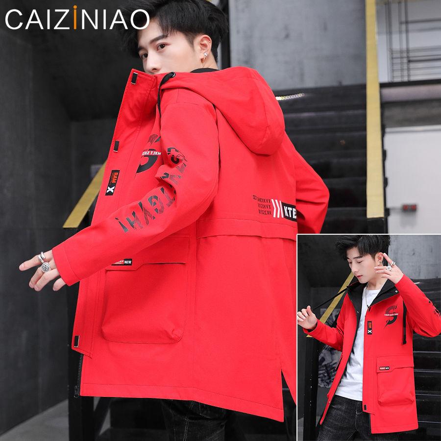 Новинка 2020, Тренч с принтом, мужская куртка, пальто, повседневная мужская ветровка, x-длинные Мужские Модные осенние куртки