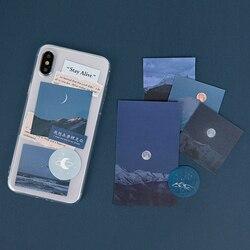 Caixa do telefone móvel original cartão de decoração simples ins vento caixa do telefone móvel diy mão conta arte colagem material papel