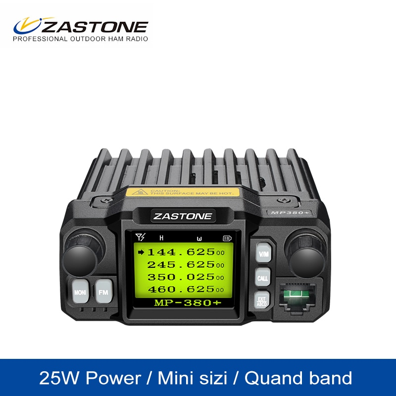 ZASTONE Car Walkie Talkie HM Mp380+ CB Two Way radio UHF VHF Mobile Radio  25W Quad Display Dual Band Car Radio Mini