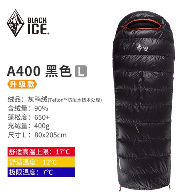 Bolsa de dormir ultraligera Blackice A400, bolsa de dormir para acampar con preservación del calor, bolsa de dormir de 790g