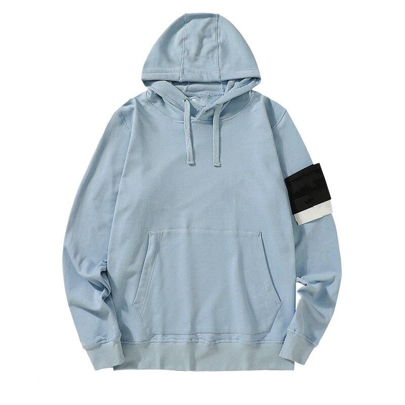 Мужской Удлиненный свитер, удлиненный пуловер с капюшоном, уличный джемпер в стиле хип-хоп, базовый классический джемпер в стиле рок, новинк...