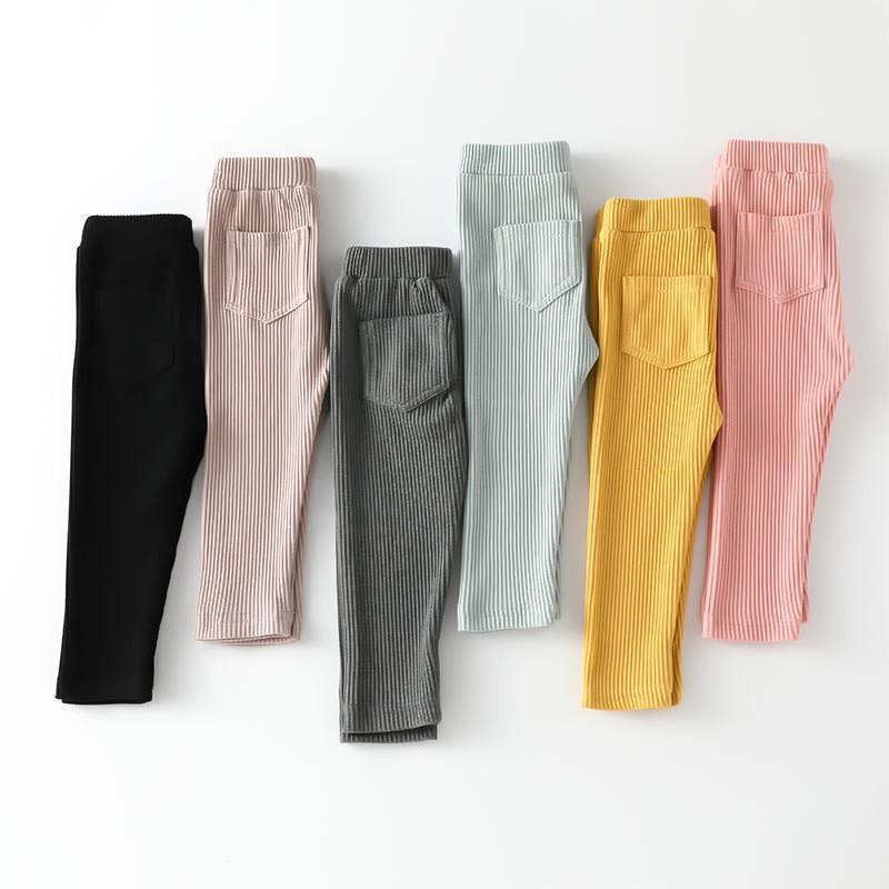 Leggings en coton PP pour bébés filles   Pantalons longs et solides, tendance, printemps-automne, nouvelle collection 2020