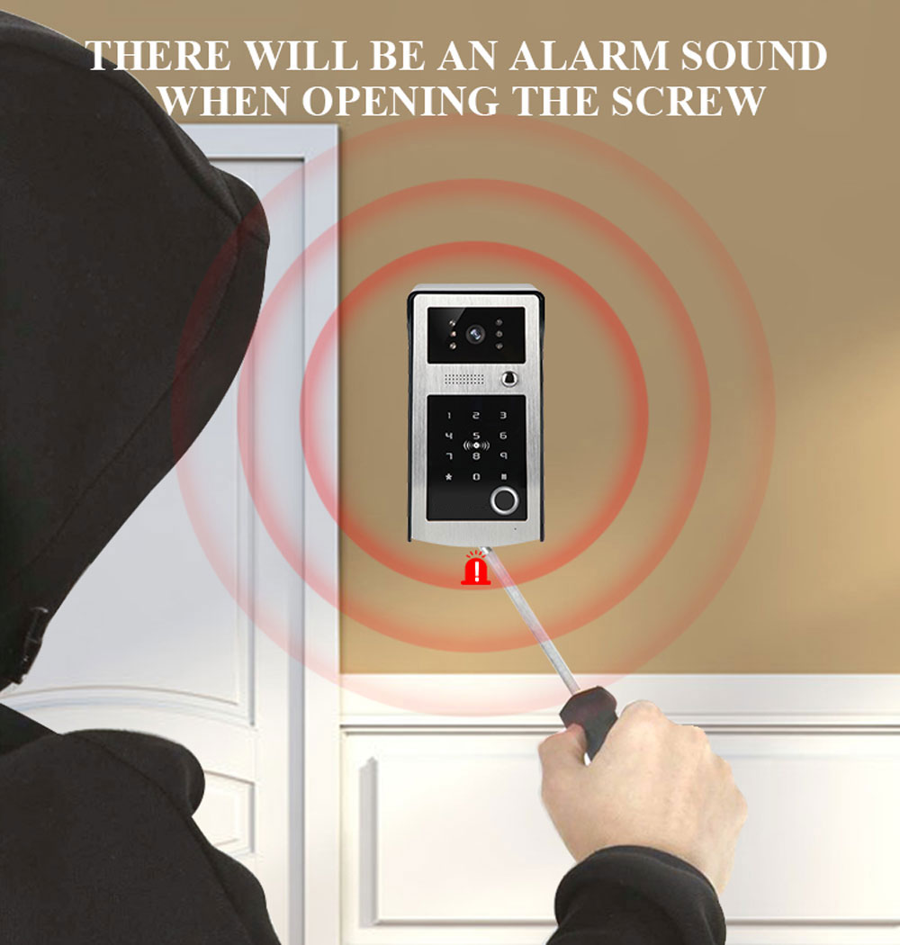 9inch Screen Wifi Video Intercom Door phone Record System Night Vision RFID Doorbell Camera Phone Remote Fingerprint Unlock enlarge