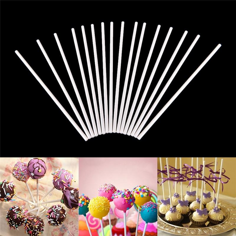 100 Uds Pop Sucker Stick de plástico de calidad alimentaria CHUPETÍN de Chocolate con caramelo DIY molde de modelado Stand utensilios decorativos para boda