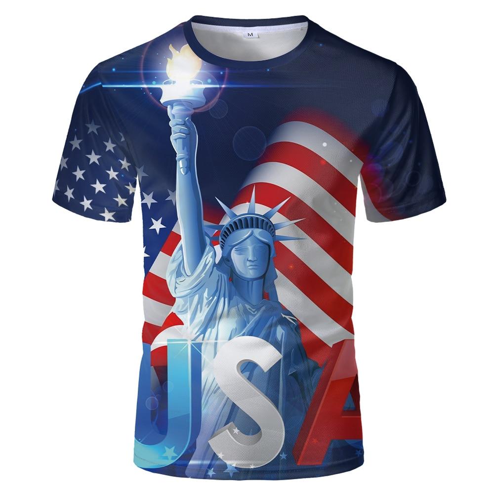 American eagle 3d print t shirt for men usa flag print short sleeve shirt statue of liberty flag short sleeve cartoon eagle and american flag print t shirt