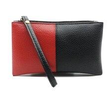 2020 noir et rouge hommes femmes portefeuilles en cuir PU sac à fermeture éclair pochette porte-monnaie téléphone bracelet Portable Long Shopping sac à main