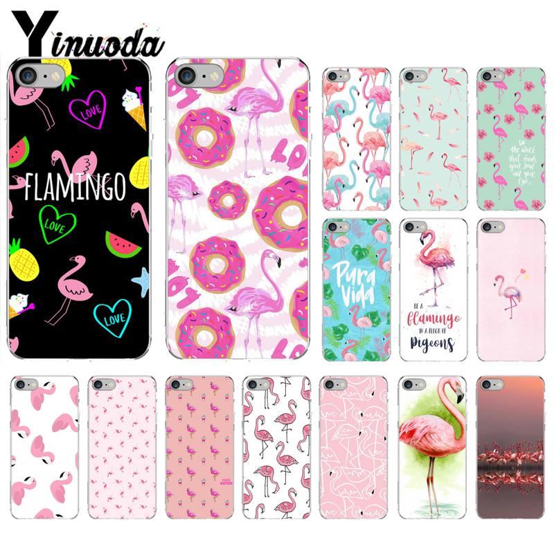 Yinuoda, funda de teléfono de carcasa suave rosa y negra con flamenco para iPhone 8 7 6 6S Plus X XS MAX 5 5S SE XR 11 11pro promax