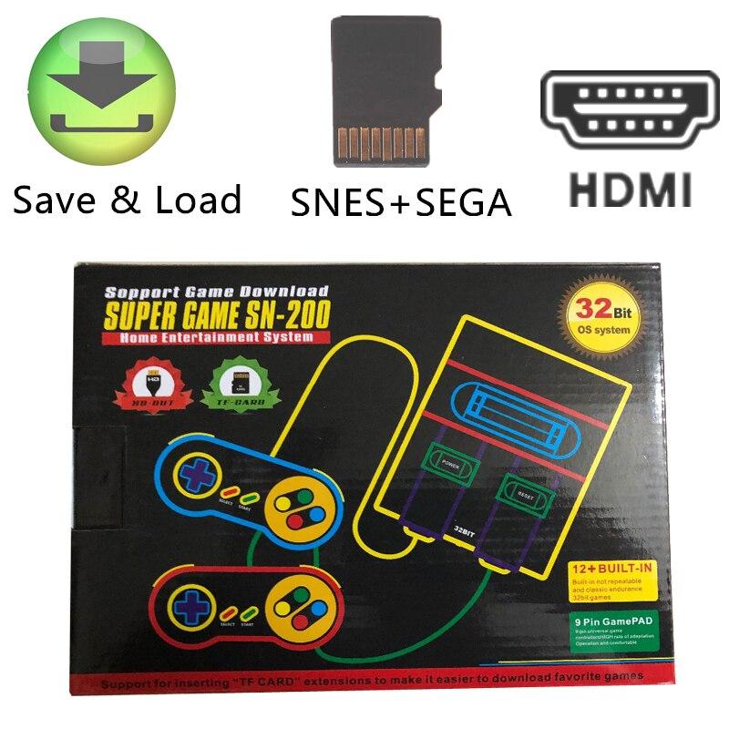 Pop-consola de juegos Retro HD con ranura para tarjeta TF para Snes,...