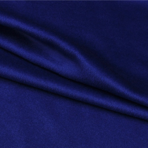 Темно-синяя шерстяная ткань кашемировая ткань 680 г/метр средней толщины теплая, WF227