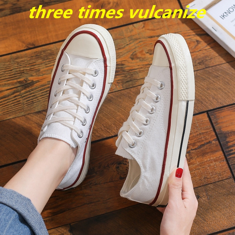 Woman Three Times Vulcanize Shoes Women's Canvas Casual Sneakers Sport Summer  Vulcanize High Top 20