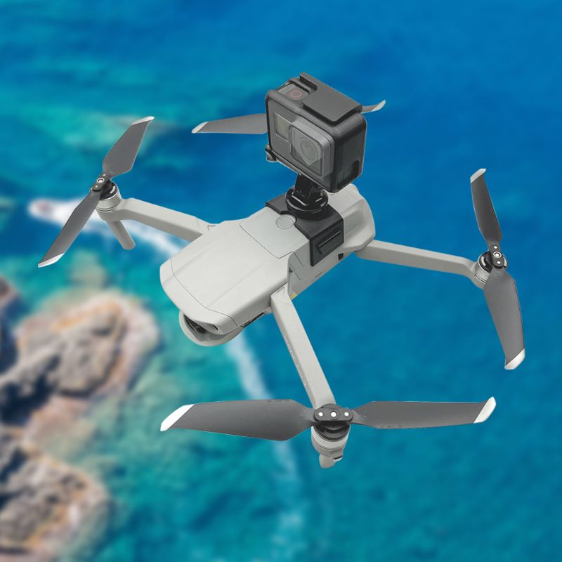 Soporte de montaje de 360 grados para D-JI Mavic AIR 2 Drone adaptador de soporte de cámara para Go-pro cámara de deportes de acción Accesorios
