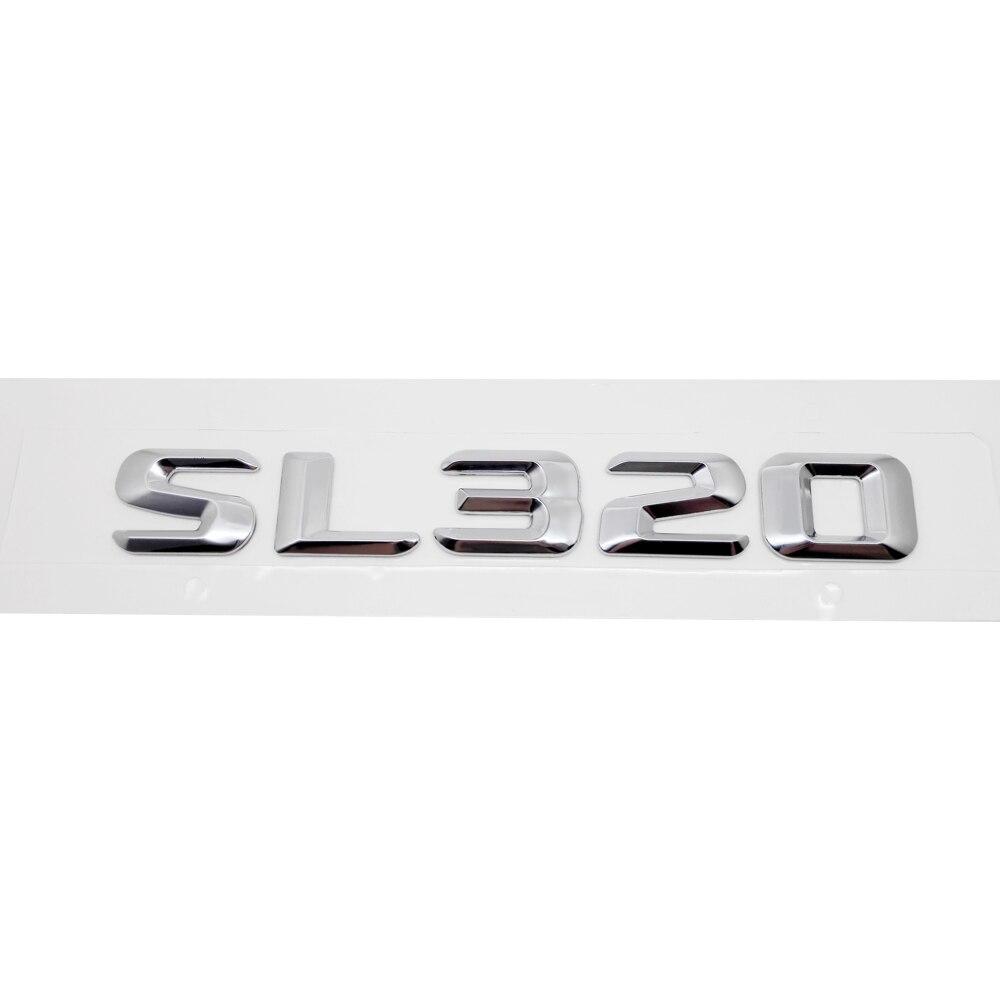 Para Mercedes Benz SL Class SL320 R107 R129 R230 R231 W204 W203 W211 W210 W212 emblema de la tapa del maletero insignia de la etiqueta de la letra del Número