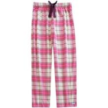 Sleep Pants For Women Plaid Cotton Woven Sanding Lounge Trousers