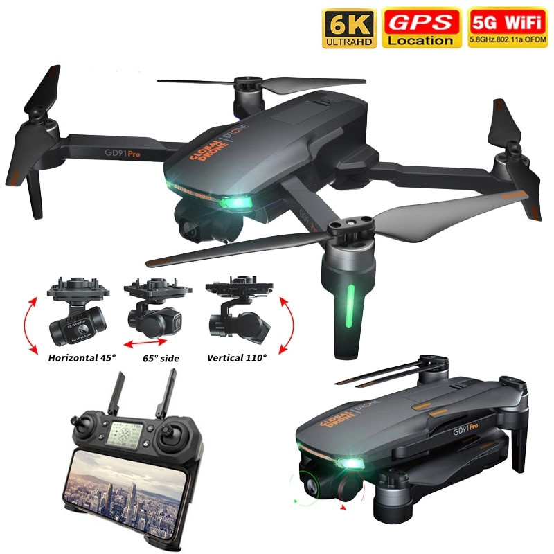 2021 NEW GD91Max Drone 6k GPS 5G WiFi 3 axis Gimbal Camera Brushless Motor Supports 32G TF Card Flight 28 min VS F11 PRO Drones