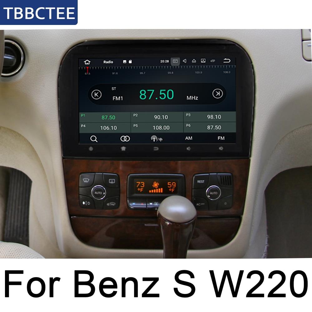 Para Mercedes Benz Clase S W220 1995 ~ 2005 NTG Android auto radio Multimedia reproductor de Video estéreo para coche GPS mapa Media Navi Navegació