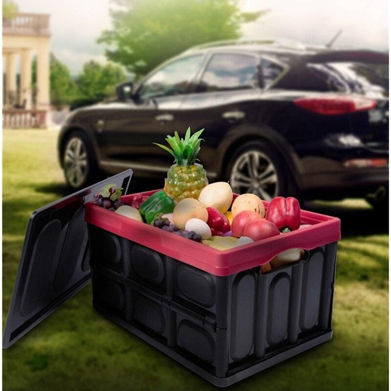 30L الملابس المنظم مع غطاء سميكة متعددة الوظائف صندوق تخزين مقابض للطي العملي سيارة جذع مساحة للتخزين الحاويات Bl
