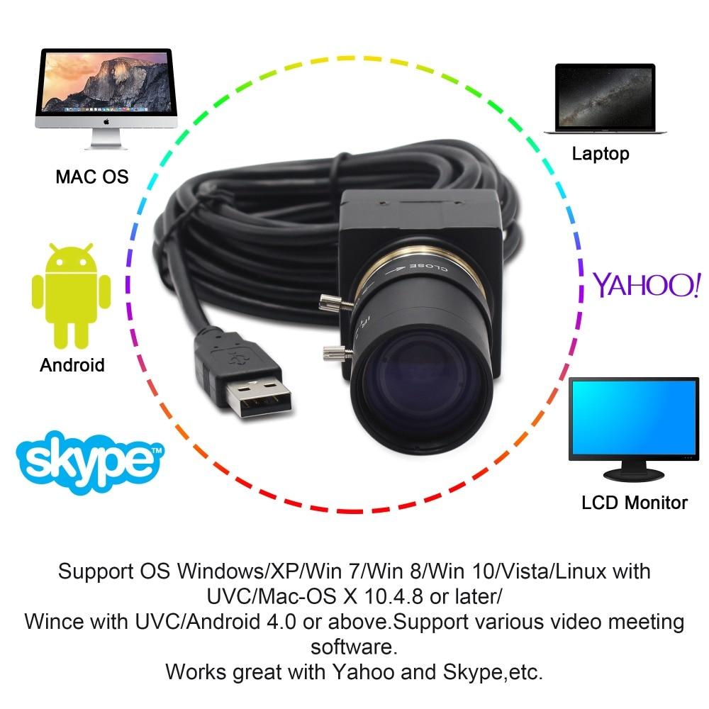 Full Hd 1080P USB Webcam 5-50mm Varifocal CMOS OV2710 30fps 60fps 100fps Industrial Usb Camera UVC for PC Computer Laptop enlarge