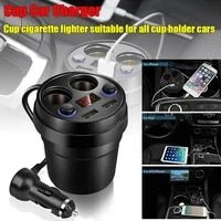 car charger 2 usb dc 5v3 1a cup power socket adapter cigarette lighter splitter mobile phone chargers with voltage led display