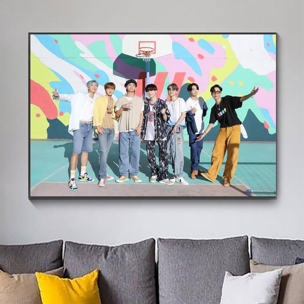 Картина на холсте «южнокорейский Мальчик»-группы плакат Bts современный стиль Кино звезда художественные принты на стену картины для спальн...