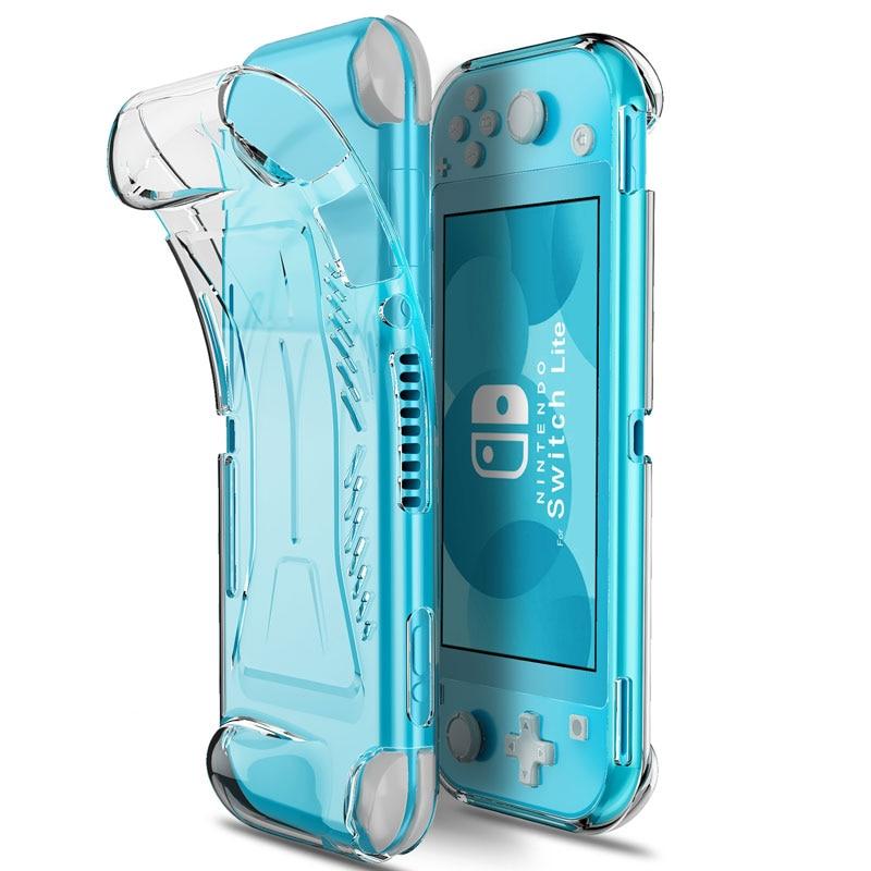 Para Nintendo Switch Lite funda protectora de agarre TPU carcasa transparente antideslizante para accesorios de consola Switch Lite