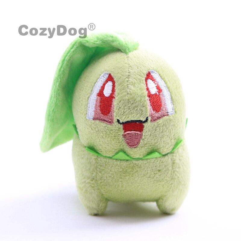 10cm Anime Chikorita plush toys doll Cartoon Pikachu Charmander Eevee Squirtle Gengar Series Plush Doll baby kids Birthday Gift