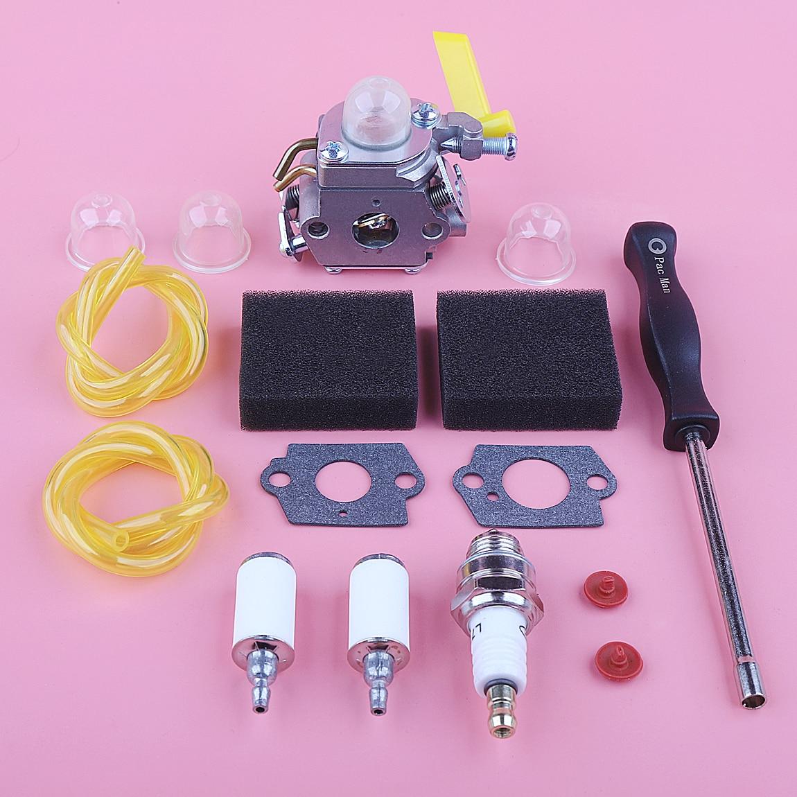 Filtro de Combustível Verificação para Homelite Carburador Válvula Ryobi Poulan Craftsman 30cc Trimmer Ventilador Zama C1u-h60 308054003 26cc ar