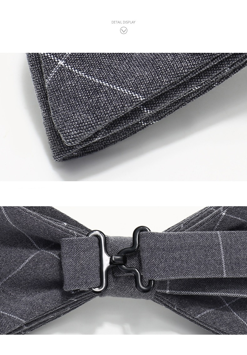 2020 Brand New Fashion Men's Bow Ties Double Fabric Pattern Wool Bowtie Banquet Wedding Formal Butterfly Tie with Gift Box