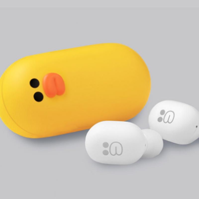 Youpin Bluetooth Earphone наушники беспроводной Headset Line Friends with Cute Brown Bear Chanrging Case TWS Sports Headphones enlarge