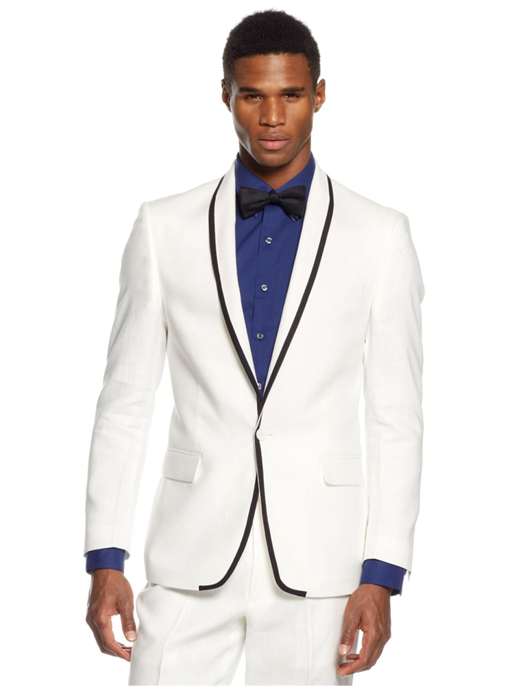 بدلة زفاف للرجال, توكسيدو أبيض كلاسيكي عالي الجودة 2021