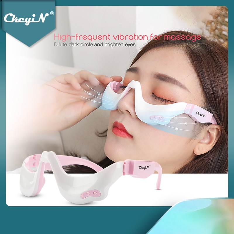 wireless 3d rechargeable green light eye restore vision eye massager child myopia treatment massage eye glasses eyes care tool Electric Eye Massager EMS Vibration Eye Care Massage Tool 3D Eyewear Warm Hot Compress Therapy Relief Eye Fatigue Relaxation 45