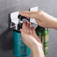 304 stainless steel bathroom hook shampoo rack hand sanitizer rack shower gel rack kitchen detergent rack wall mounted