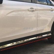 Para mitsubishi eclipse cross 2018-2019 de alta qualidade de aço inoxidável corpo guarnição anti-rub proteção decoração estilo do carro