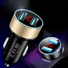 3.1A Dual USB Car Charger for iPhone 12 6s 7 8 11 Tablet Xiaomi Samsung S10 With LED Display Univers