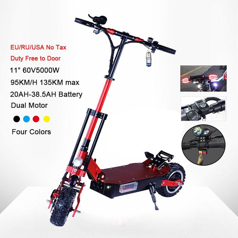 Patinete eléctrico de alta velocidad de 95 KM/H, aeropatín Scooter para adulto plegable de 135 W y larga distancia de 5000 KM, aeropatín Longboard potente
