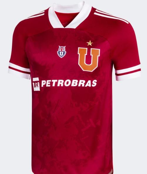 NEW 2021 Universidad de Chile shirt HENRIQUEZ GUERRA CAMISETA TERCER UNIFORME U. DE CHILE red t-shir