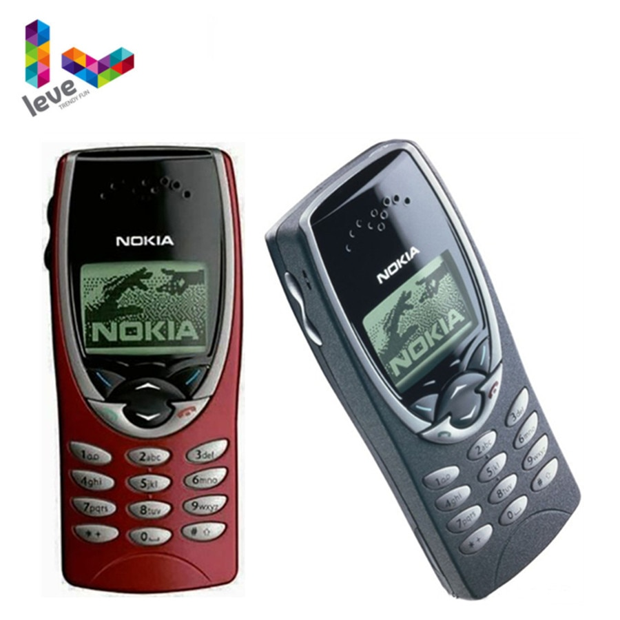 Nokia 8210 Unlocked Phone GSM 900/1800 Support Multi-Language Used and Refurbished Cell Phone Free S