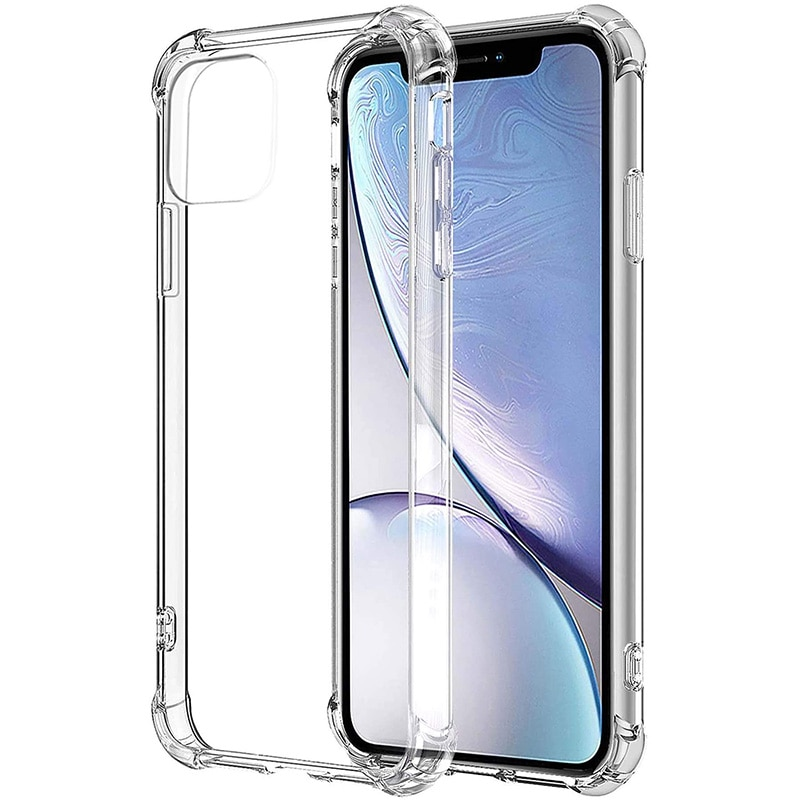 Shockproof Phone Case For iPhone 11 12 Pro Max Xs X Transparent Silicone Case For iPhone 7 8 Plus SE