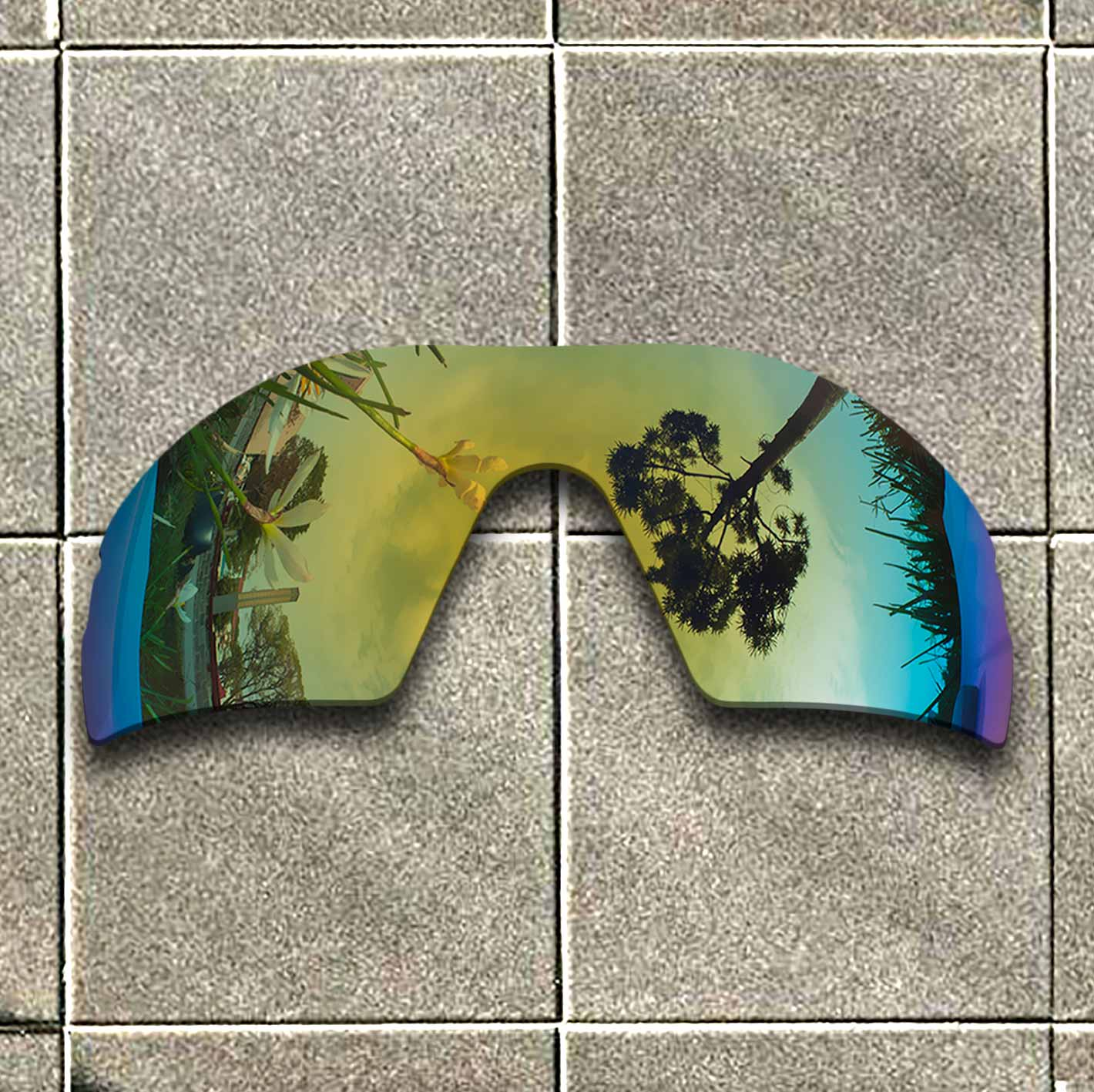Polarized Replacement Lense For-Oakley Radar XL Sunglasses Frame True Color Mirrored Coating - Yellow Options