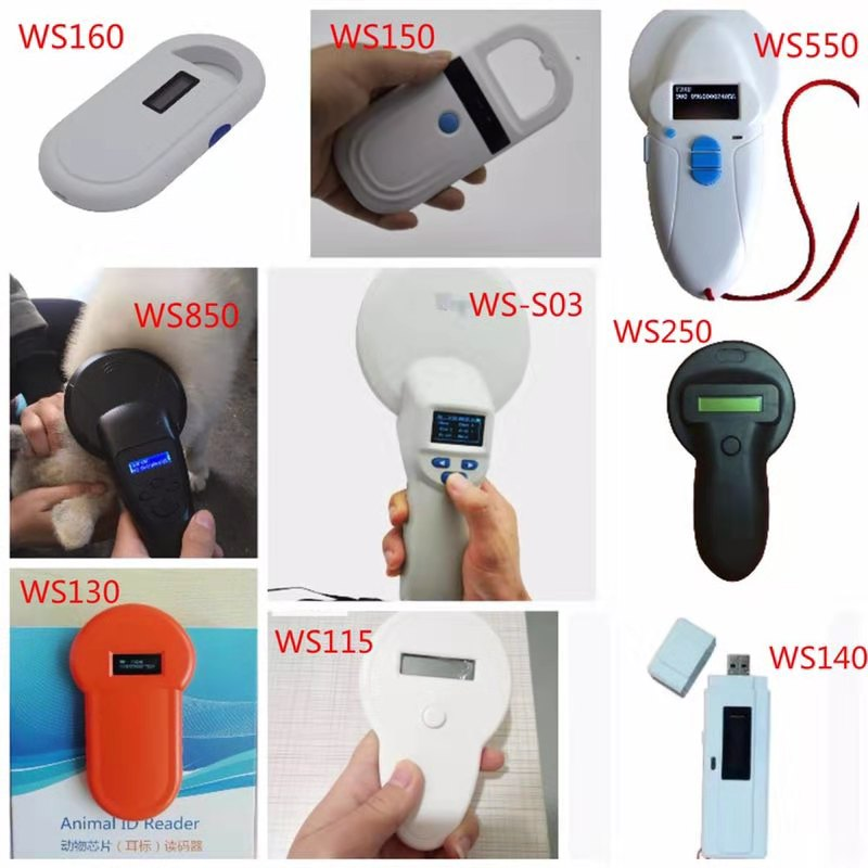 FDX/B Pet microchip Scanner Animal RFID Tag Reader dog reader Low Frequency Handheld RFID Reader with Animal Chip enlarge