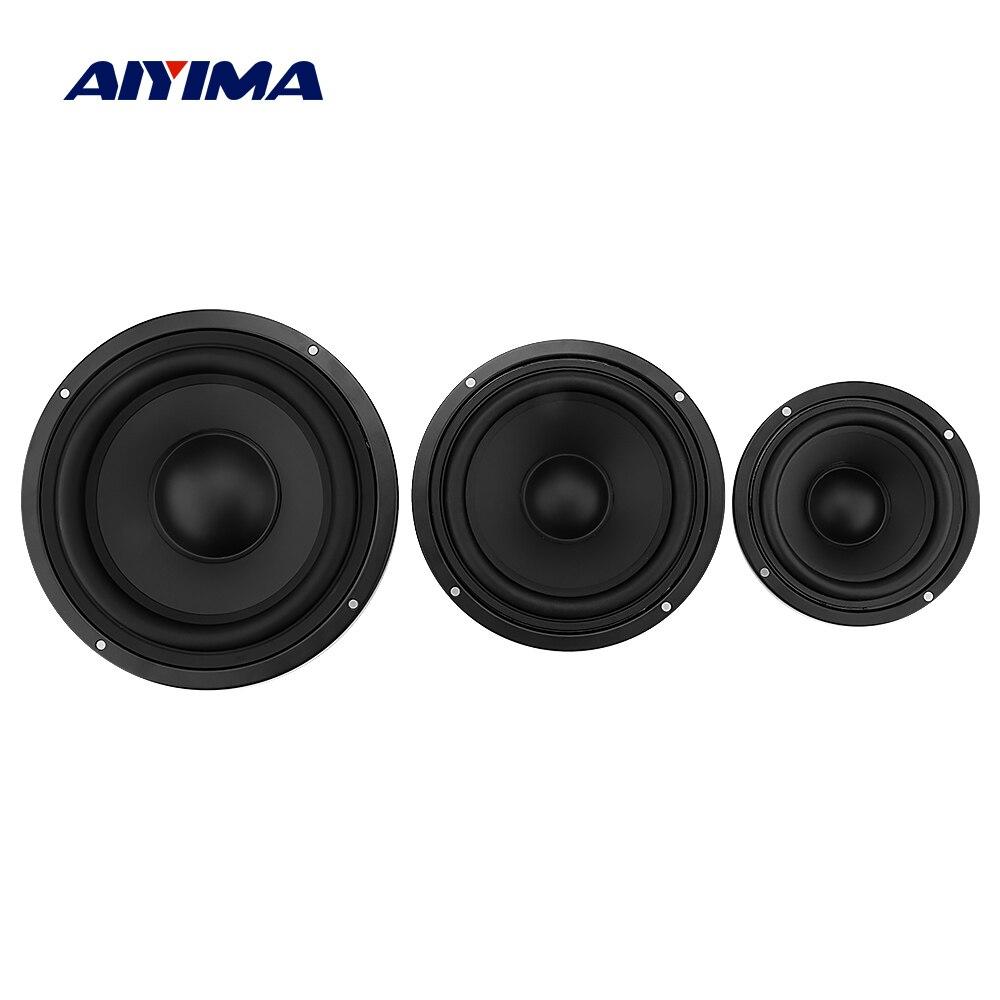 AIYIMA 2Pcs Speaker Bass Radiator Passive Radiator 4 5 6.5 Inch Bass Vibration Membrane Woofer Speaker Accessories Parts