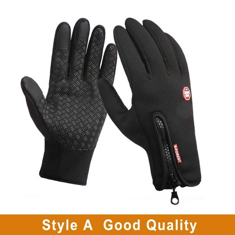 Водонепроницаемый зимние теплые перчатки зимние лыжные перчатки для сноуборда перчатки для езды на мотоцикле, Зимние перчатки для сенсорн...