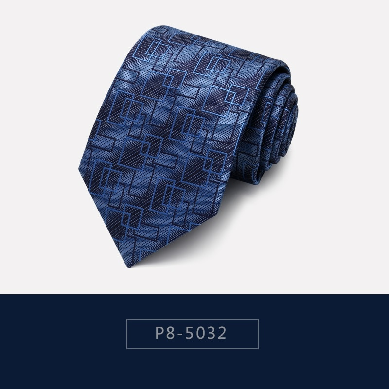 High Quality 2020 Designer New Fashion Gradient Irregular Stripe Navy Blue 8cm Ties for Men Necktie Formal Suit with Gift Box
