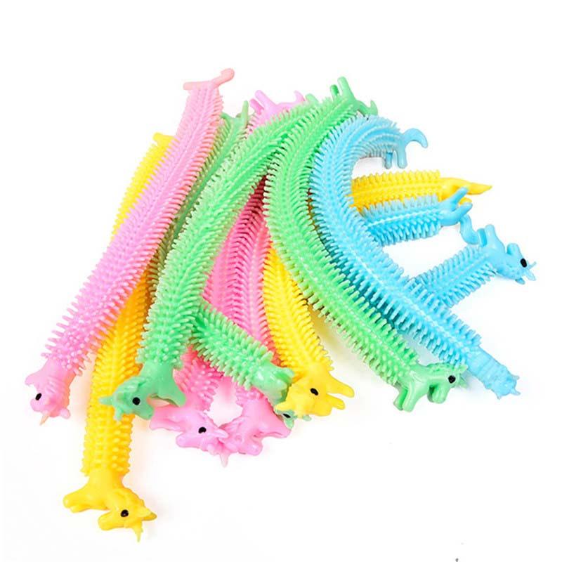 6pcs Worm Noodle Stretch String Rope Anti Stress Toys String Fidget Toys Random Color enlarge