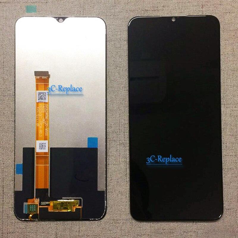 Pantalla LCD negra de 6,5 pulgadas para Oppo Realme 5 RMX1911 / 5s RMX1925 / 5i RMX2030, repuesto de montaje de digitalizador con pantalla táctil
