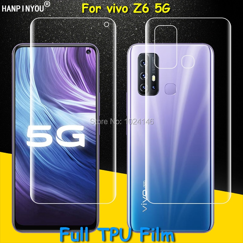 Front / Back Full Coverage Clear Soft TPU Film Screen Protector For vivo Z6 Z 6 5G 6.57