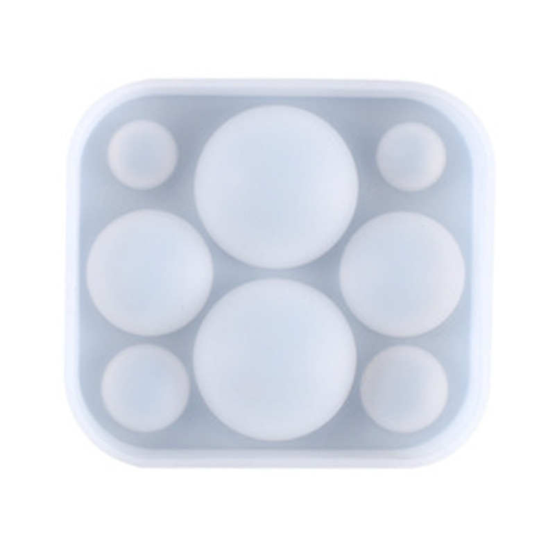 Crystal Epoxy Resin Mold Half Ball Beads Oblate Cabochon Pendant Silicone Mould DIY Crafts Jewelry Casting Tool silicone mold for jewelry half ball flat round oblat cabochon pendant epoxy resin jewelry mould making craft moulds tools