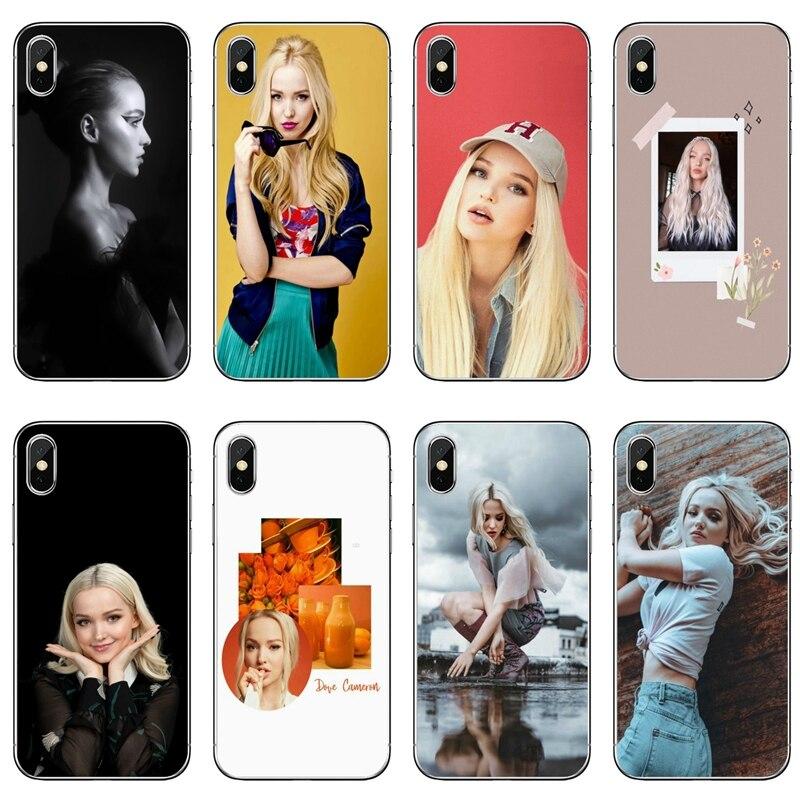Dove Cameron de silicona funda para iPhone x XR XS 11 Pro Max 8 7 6 6S Plus 5 5S SE 4S 4 iPod Touch 5 6