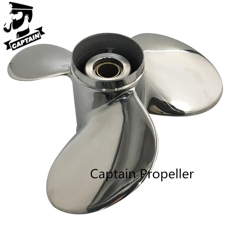 40HP 48HP 50HP 55HP 60HP 75HP Outboard Propeller 11 5/8x13 Fit Evinrude Engine Stainless Steel 13 Tooth Spline RH 5031624 enlarge